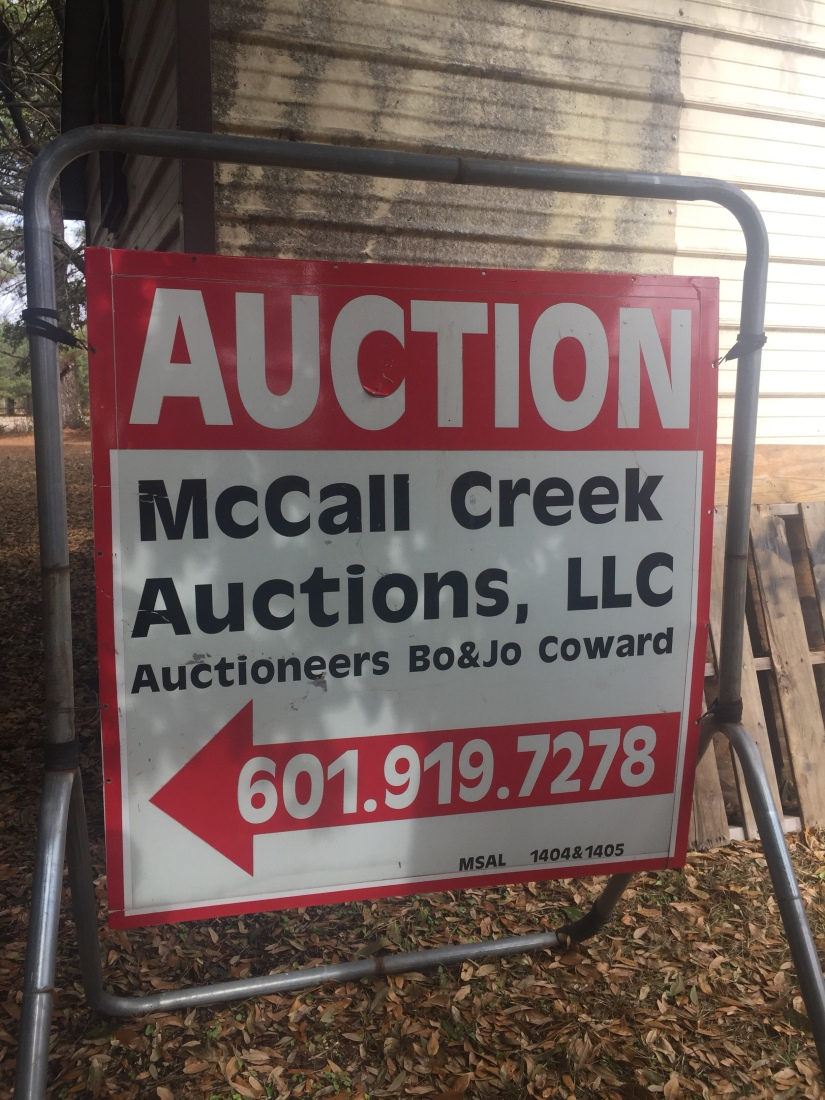Auction Saturday at McCall Creek Auctions Brookhaven 11AM